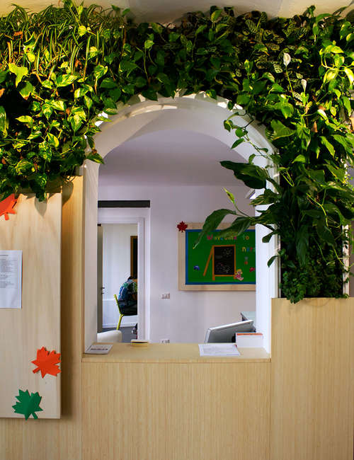 Vertical planting, Interior wall plant, Green wall interior for KinderGarten Milan - photo 2.