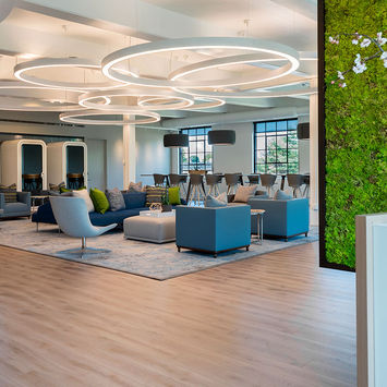 Green wall office - Wellness Co-working Company WORK WELL WIN Opens Greenwich