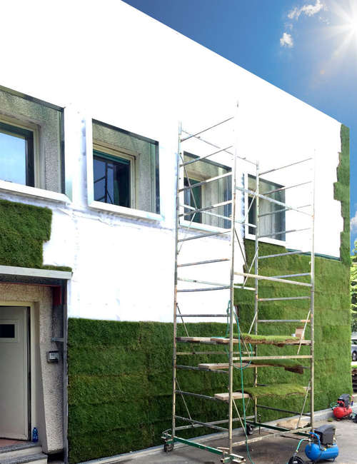 Large vertical gardens, Outdoor vertical garden for Michele Chiarlo Wine company Asti - photo 5.