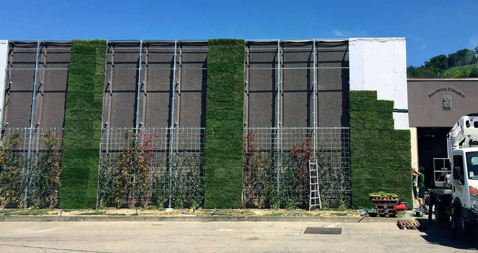 Large vertical gardens, Outdoor vertical garden for Michele Chiarlo Wine company Asti - photo 6.