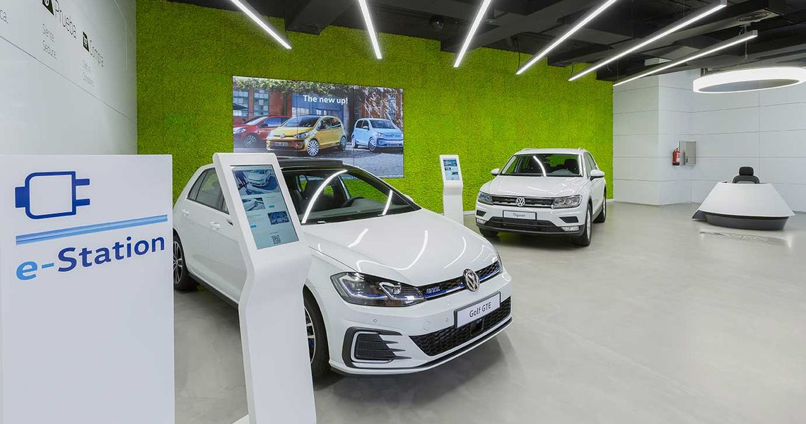 Volkswagen showroom in Madrid