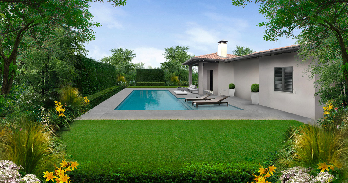 Garden design for private home