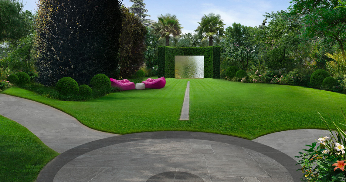 Green areas design for private home