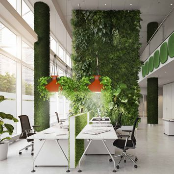 WORK SPACES AFTER COVID 19: The Green Office by Verde Profilo