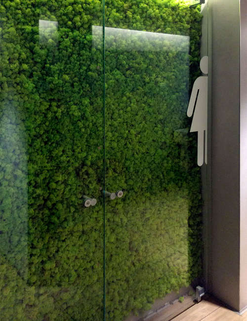 Artificial green wall for Airport of Fiumicino Rome - photo 2.
