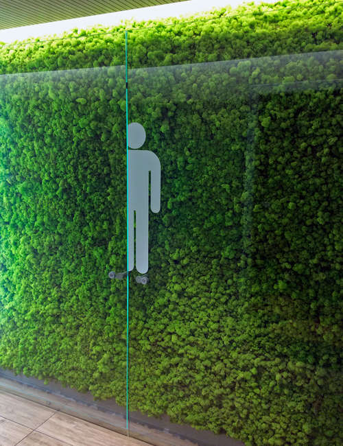 Artificial green wall for Airport of Fiumicino Rome - photo 3.