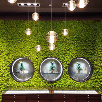Green wall office - Trollbeads USA stores